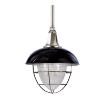 Hudson Valley Lighting Keene 1 Light Pendant in Black and Polished Nickel 3812-BPN