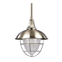 Keene 1 Light 13 inch Satin Nickel Pendant Ceiling Light