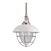 Hudson Valley Lighting Keene Pendant in White/Polished Nickel 3812-WPN