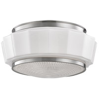 Hudson Valley Lighting Odessa 2 Light Flush Mount in Satin Nickel 3814F-SN