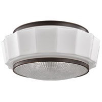 Odessa 3 Light 16 inch Old Bronze Flush Mount Ceiling Light