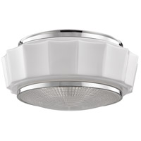 Odessa 3 Light 16 inch Polished Nickel Flush Mount Ceiling Light