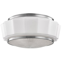 Odessa 3 Light 16 inch Satin Nickel Flush Mount Ceiling Light
