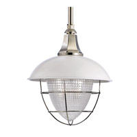 Hudson Valley Lighting Keene 1 Light Pendant in White and Polished Nickel 3818-WPN