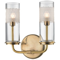 Wentworth 2 Light 9 inch Aged Brass Wall Sconce Wall Light