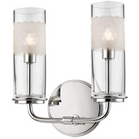 Wentworth 2 Light 9 inch Polished Nickel Wall Sconce Wall Light