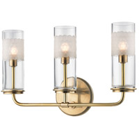 Hudson Valley Lighting Wentworth 3 Light Wall Sconce in Aged Brass 3903-AGB