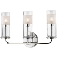 Hudson Valley Lighting Wentworth 3 Light Wall Sconce in Polished Nickel 3903-PN