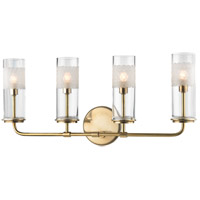 Wentworth 4 Light 23 inch Aged Brass Wall Sconce Wall Light