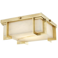 Delmar LED 10 inch Aged Brass Flush Mount Ceiling Light