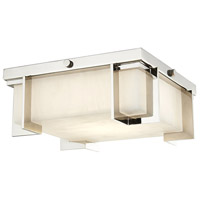 Delmar LED 10 inch Polished Nickel Flush Mount Ceiling Light