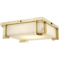Delmar LED 13 inch Aged Brass Flush Mount Ceiling Light