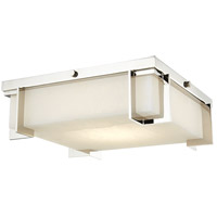 Delmar LED 13 inch Polished Nickel Flush Mount Ceiling Light