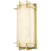Delmar LED 7 inch Aged Brass ADA Wall Sconce Wall Light