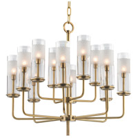 Hudson Valley Lighting Wentworth 12 Light Chandelier in Aged Brass 3925-AGB