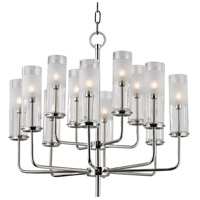 Hudson Valley Lighting Wentworth 12 Light Chandelier in Polished Nickel 3925-PN