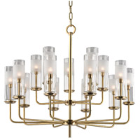 Hudson Valley 3930-AGB Wentworth 15 Light 31 inch Aged Brass Chandelier Ceiling Light photo thumbnail