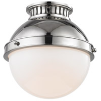 Hudson Valley 4009-PN Latham 1 Light 10 inch Polished Nickel Flush Mount Ceiling Light