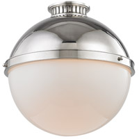 Hudson Valley 4015-PN Latham 1 Light 15 inch Polished Nickel Flush Mount Ceiling Light