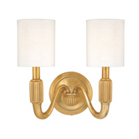 Hudson Valley Lighting Tuilerie 2 Light Wall Sconce in Aged Brass 402-AGB
