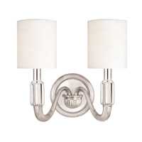 Hudson Valley Lighting Tuilerie 2 Light Wall Sconce in Polished Nickel 402-PN