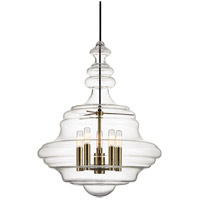 Hudson Valley 4020-AGB Washington 5 Light 20 inch Aged Brass Pendant Ceiling Light