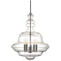 Hudson Valley 4020-PN Washington 5 Light 20 inch Polished Nickel Pendant Ceiling Light