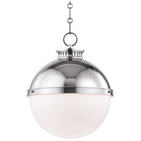Hudson Valley 4025-PN Latham 1 Light 15 inch Polished Nickel Pendant Ceiling Light