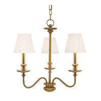 Menlo Park 3 Light 20 inch Aged Brass Chandelier Ceiling Light