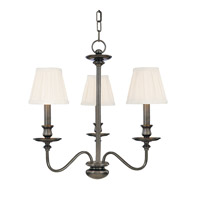 Menlo Park 3 Light 20 inch Antique Nickel Chandelier Ceiling Light