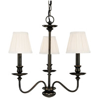 Menlo Park 3 Light 20 inch Old Bronze Chandelier Ceiling Light