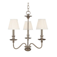 Menlo Park 3 Light 20 inch Polished Nickel Chandelier Ceiling Light