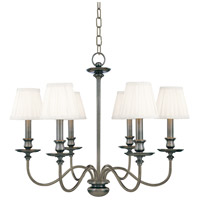 Menlo Park 6 Light 25 inch Antique Nickel Chandelier Ceiling Light
