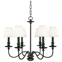 Menlo Park 6 Light 25 inch Old Bronze Chandelier Ceiling Light