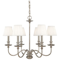 Hudson Valley 4036-PN Menlo Park 6 Light 25 inch Polished Nickel Chandelier Ceiling Light
