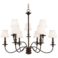 Menlo Park 9 Light 34 inch Old Bronze Chandelier Ceiling Light