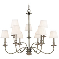 Hudson Valley 4039-PN Menlo Park 9 Light 34 inch Polished Nickel Chandelier Ceiling Light