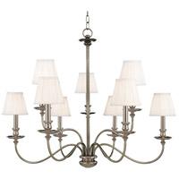 Hudson Valley 4039-PN Menlo Park 9 Light 34 inch Polished Nickel Chandelier Ceiling Light