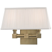 Hudson Valley Lighting Dixon 2 Light Wall Sconce in Aged Brass 4042-AGB