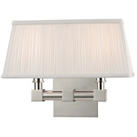 Hudson Valley Lighting Dixon 2 Light Wall Sconce in Polished Nickel 4042-PN