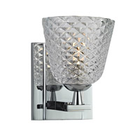 Hudson Valley Lighting Grafton 1 Light Bath Vanity in Polished Chrome 4061-PC