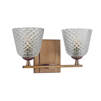 Hudson Valley Lighting Grafton 2 Light Bath Vanity in Brushed Bronze 4062-BB