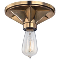 Bethesda 1 Light 7 inch Aged Brass Semi Flush Ceiling Light