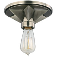 Bethesda 1 Light 7 inch Aged Silver Semi Flush Ceiling Light