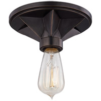 Bethesda 1 Light 7 inch Old Bronze Semi Flush Ceiling Light