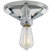 Bethesda 1 Light 7 inch Polished Chrome Semi Flush Ceiling Light
