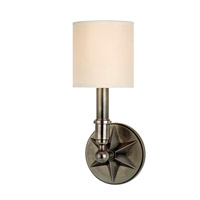 Hudson Valley Lighting Bethesda 1 Light Wall Sconce in Aged Silver with Eco Paper Shade 4081-AS