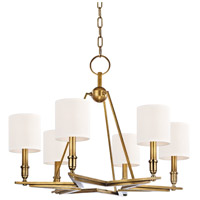 Hudson Valley 4086-AGB-WS Bethesda 6 Light 31 inch Aged Brass Chandelier Ceiling Light