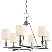 Hudson Valley Lighting Bethesda 6 Light Chandelier in Aged Silver with Eco Paper Shade 4086-AS