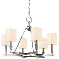 Hudson Valley Lighting Bethesda 6 Light Chandelier in Polished Nickel with Eco Paper Shade 4086-PN